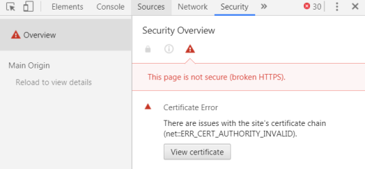Chrome View Certificate